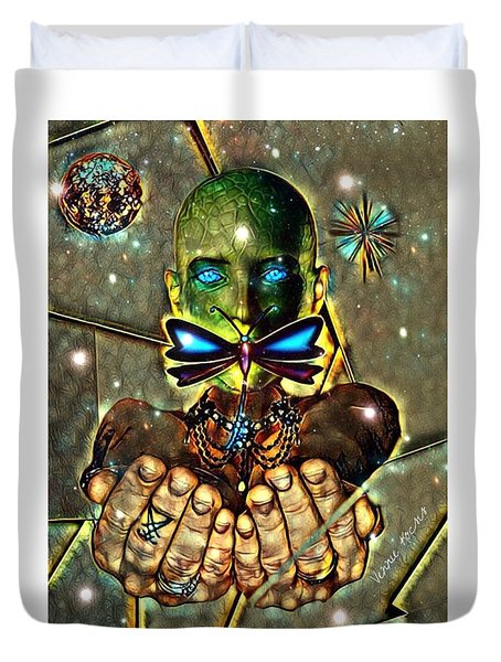 Dragonfly Empath Duvet Cover
