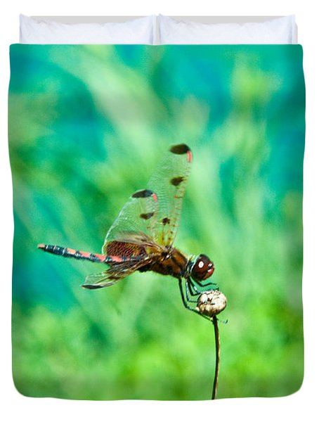 Dragonfly Hanging On Duvet Cover