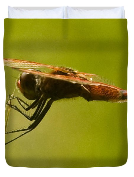 Dragonfly Holding On Tight Duvet Cover