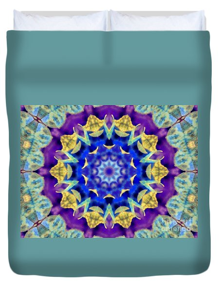 Dragonfly Kaleidoscope Duvet Cover