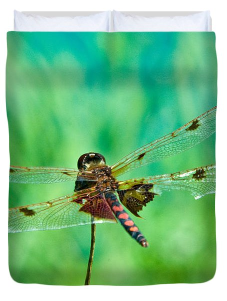 Dragonfly Rear Approach Duvet Cover