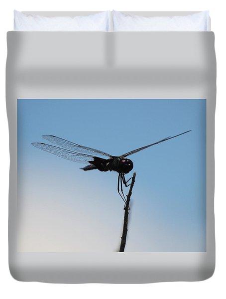 Dragonfly Silhouette Duvet Cover