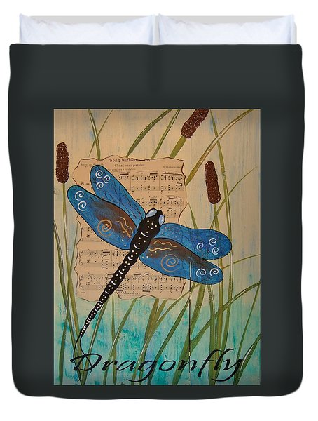 Dragonfly Song Duvet Cover