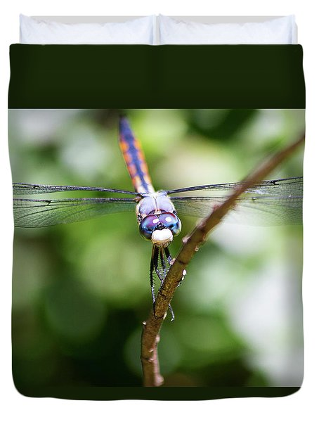 Dragonfly Watching Duvet Cover