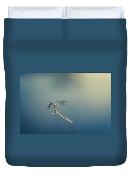Duvet Cover featuring the photograph Dragonlady by Shane Holsclaw