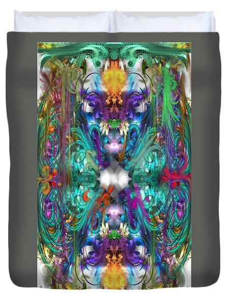 Dragons Of The Temple Duvet Cover