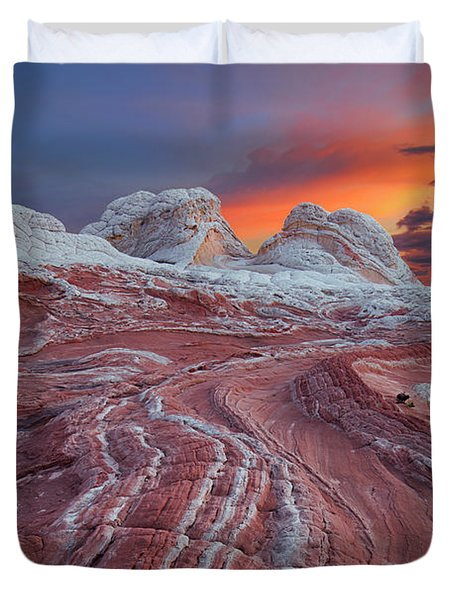 Dragons Tail Sunrise Duvet Cover