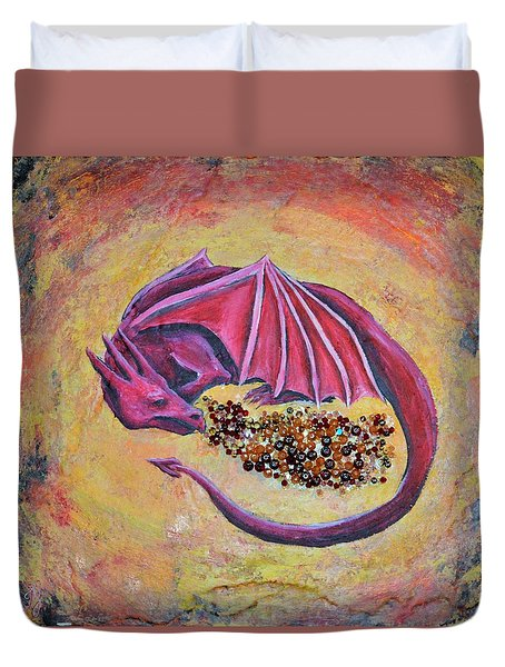 Dragon's Treasure Duvet Cover