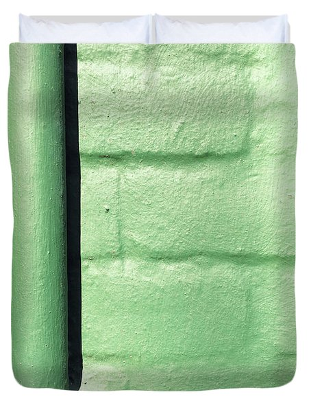 Drainpipe On A Wall Duvet Cover
