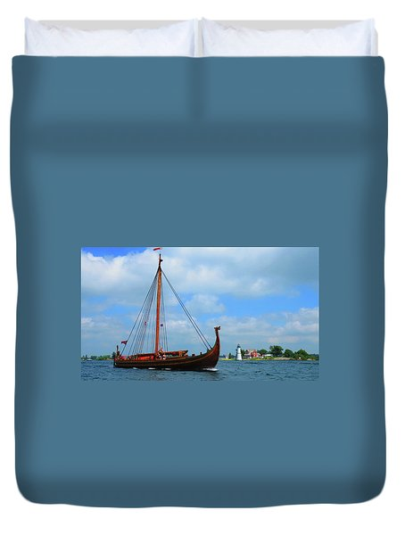 The Draken Passing Rock Island Duvet Cover