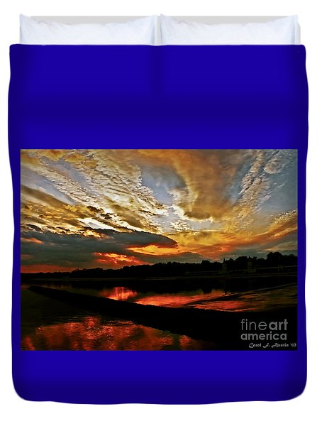 Drama In The Sky At The Sunset Hour Duvet Cover