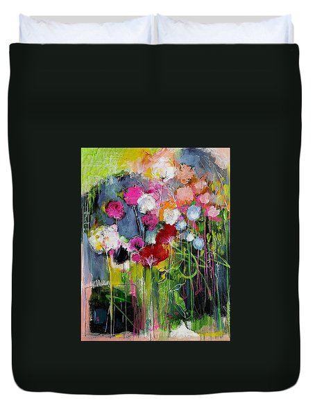 Dramatic Blooms Duvet Cover by Nicole Slater