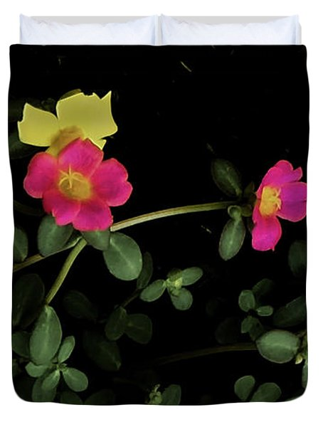 Dramatic Colorful Flowers Duvet Cover