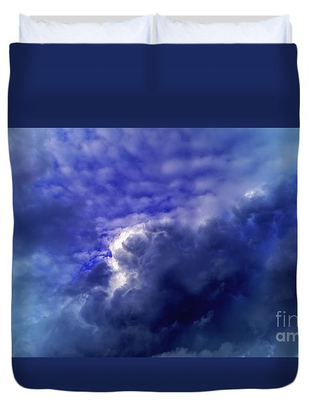 Dramatic Cumulus Sky Duvet Cover