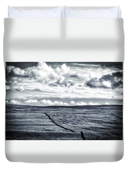 Duvet Cover featuring the photograph Dramatic Landscape  by RKAB Works