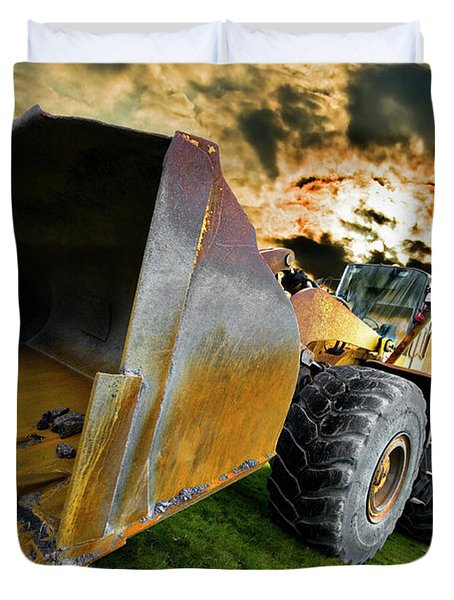Dramatic Loader Duvet Cover