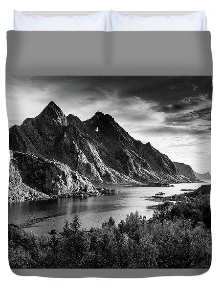 Dramatic Lofoten Duvet Cover