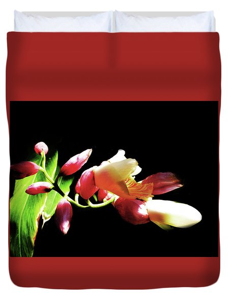 Dramatic Oriental Orchid Duvet Cover
