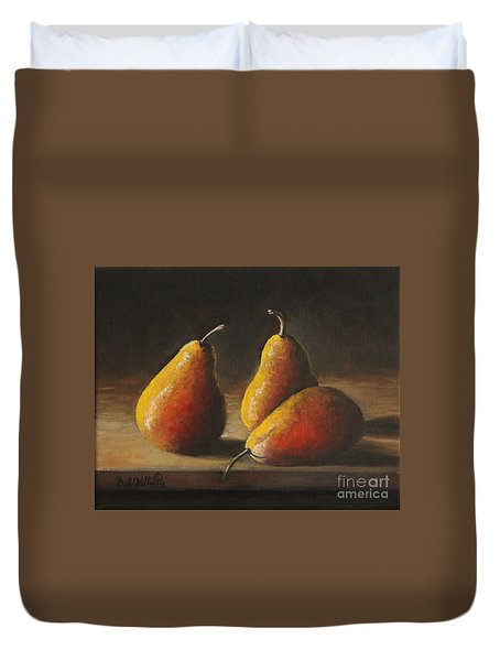 Dramatic Pears Duvet Cover