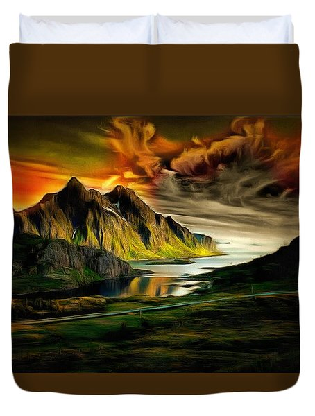 Dramatic Skies Duvet Cover by Mario Carini