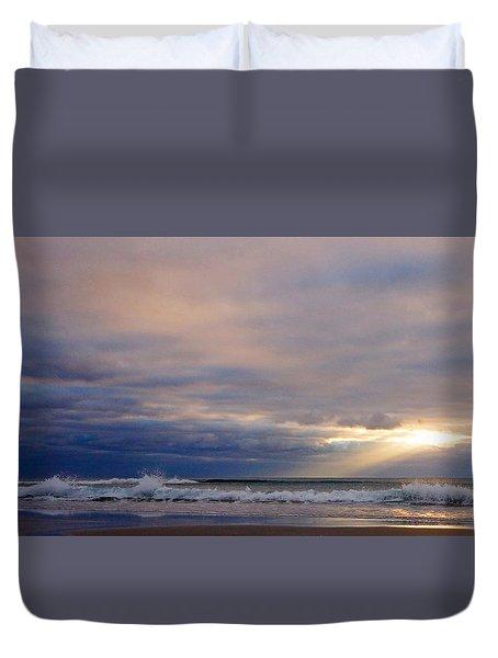 Dramatic Wave Sunrise Duvet Cover