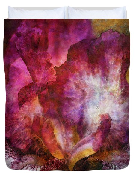 Dramatic White And Purple 0273 Idp_2 Duvet Cover