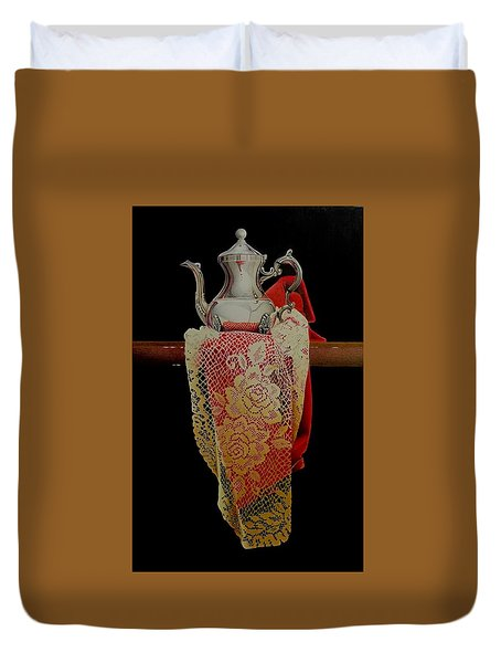 Draped Tea Service  Duvet Cover