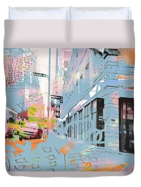 Drawing On Hennepin Ave.  Duvet Cover