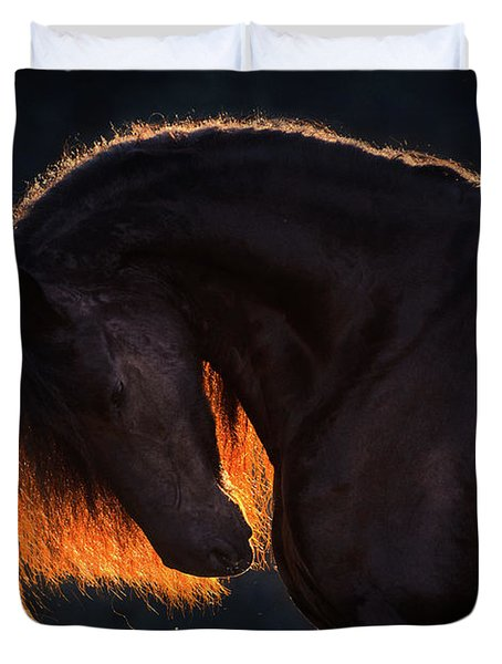 Drawn From The Darkness Duvet Cover