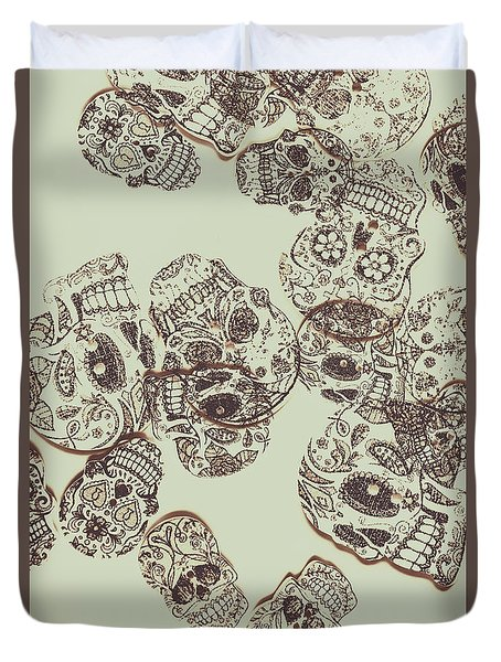 Drawn Out Nightmares Duvet Cover