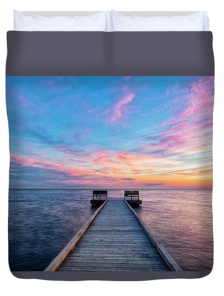 Duvet Cover featuring the photograph Drawn To Beauty by Russell Pugh