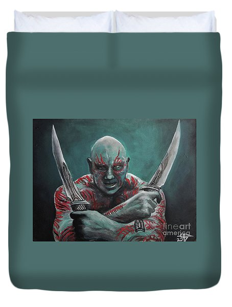 Drax The Destroyer Duvet Cover by Tom Carlton