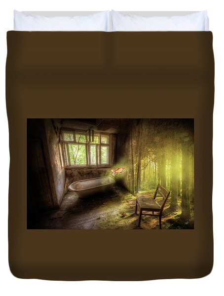 Duvet Cover featuring the digital art Dream Bathtime by Nathan Wright