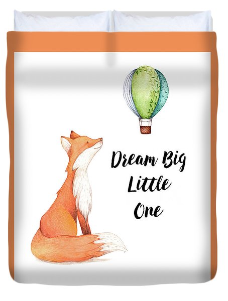 Duvet Cover featuring the digital art Dream Big Little One by Colleen Taylor