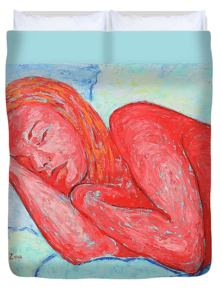 Duvet Cover featuring the painting Dream Big   by Xueling Zou