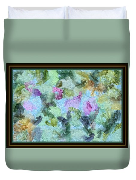 Duvet Cover featuring the mixed media Dream Bigger by Trish Tritz