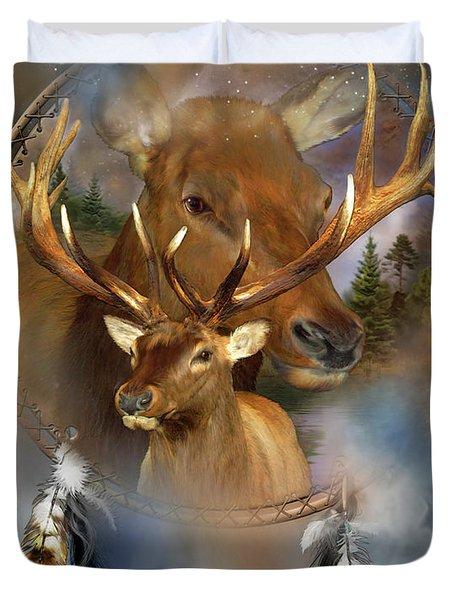 Dream Catcher - Spirit Of The Elk Duvet Cover
