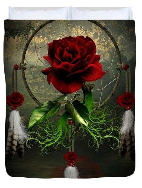 Dream Catcher Rose Duvet Cover