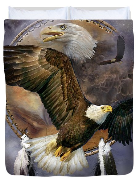 Dream Catcher - Spirit Eagle Duvet Cover