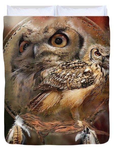 Dream Catcher - Spirit Of The Owl Duvet Cover