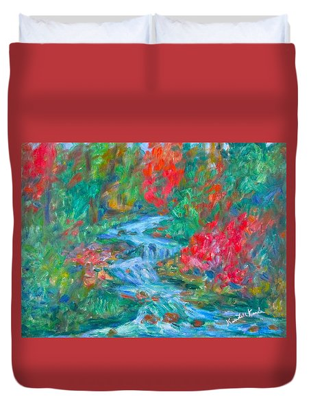 Dream Creek Duvet Cover by Kendall Kessler