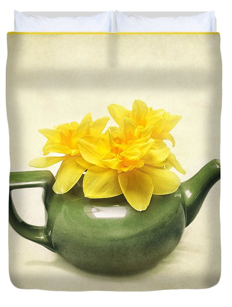 Dream Daffodils Duvet Cover by Kathi Mirto