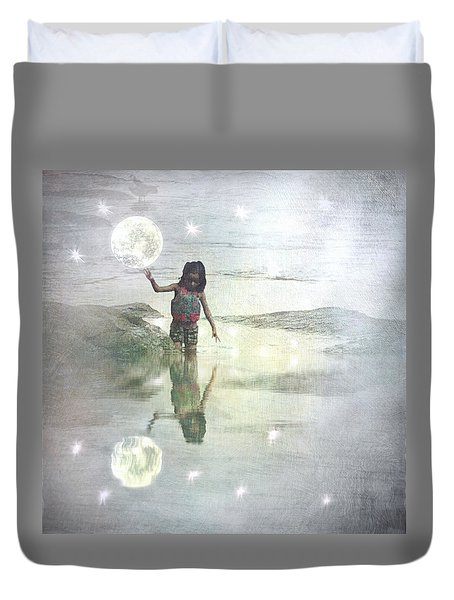 To Touch The Moon Duvet Cover