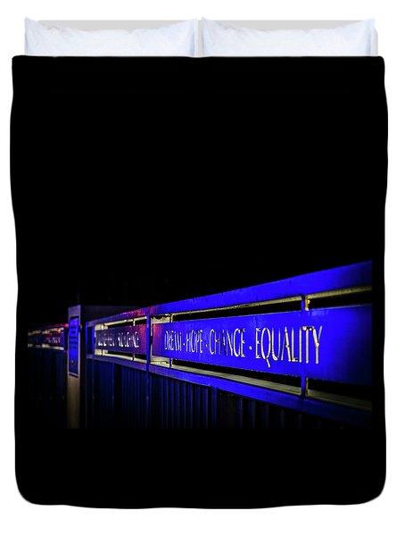 Dream-hope-change-equality Martin Lurther Kin Bridge - Fort Wayne Indiana Duvet Cover