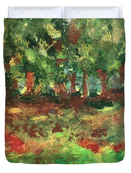 Dream In Green Duvet Cover