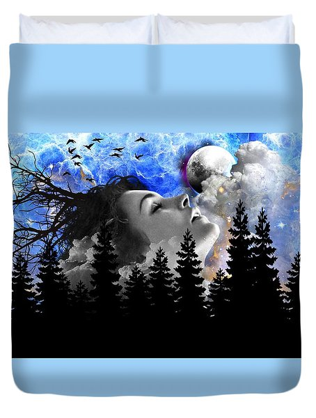 Dream Is The Space To Fly Farther Duvet Cover