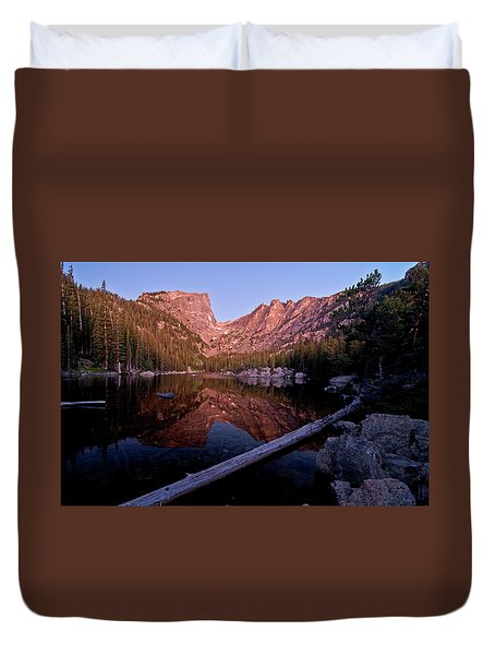 Duvet Cover featuring the photograph Dream Lake by Gary Lengyel