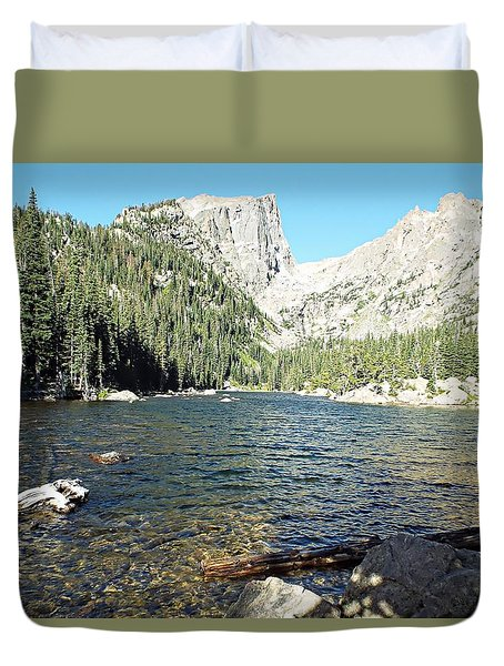 Dream Lake - Rocky Mountain National Park Duvet Cover by Joseph Hendrix