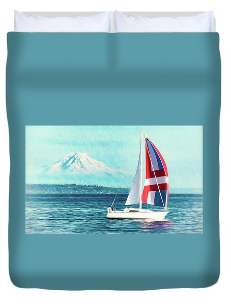 Dream Of Sailing Duvet Cover