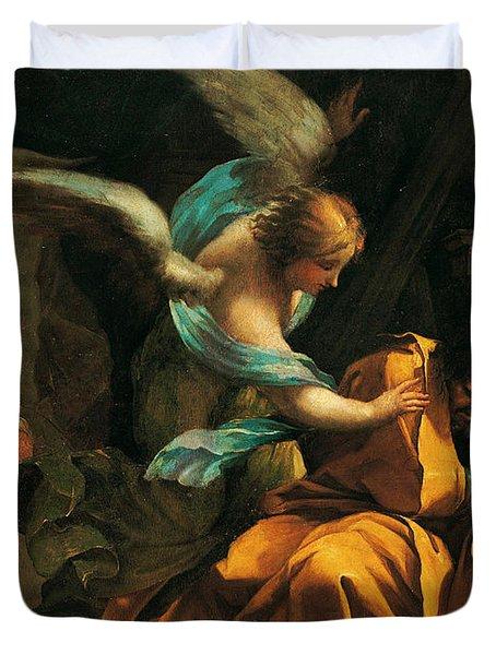 Dream Of St. Joseph Duvet Cover
